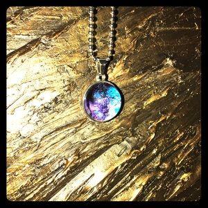Jewelry - Galaxy Saturn NASA Nebula Planetary Pendent
